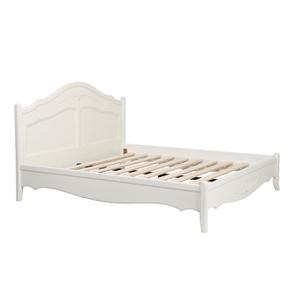 Lit 180x200 en bois blanc vieilli - Lubéron - Visuel n°3