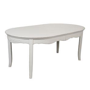 Table ovale extensible blanche 4 à 8 personnes - Lubéron - Visuel n°4