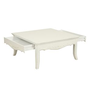Table basse carrée blanche avec rangement - Lubéron - Visuel n°5