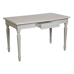 Bureau blanc 1 tiroir en bois - Gustavien - Visuel n°3