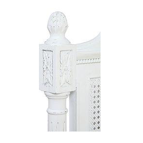Lit enfant 90x190 en bois blanc vieilli - Gustavien - Visuel n°8