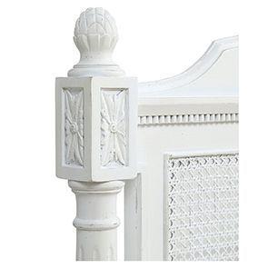 Lit 180x200 en bois blanc vieilli - Gustavien - Visuel n°8