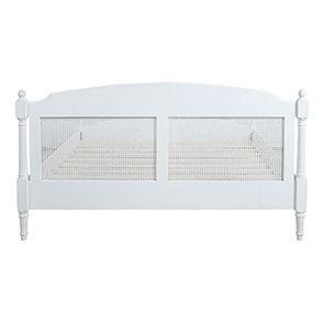 Lit 180x200 en bois blanc vieilli - Gustavien - Visuel n°5