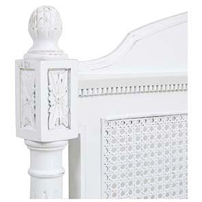 Tête de lit 90 blanche en bois - Gustavien - Visuel n°3