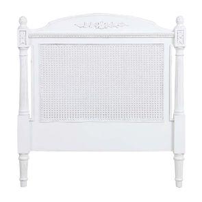 Tête de lit 90 blanche en bois - Gustavien