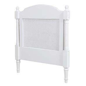 Tête de lit 90 blanche en bois - Gustavien - Visuel n°6