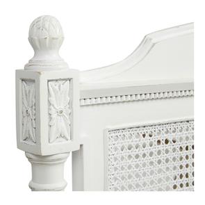 Tête de lit 180 blanche en bois - Gustavien - Visuel n°3