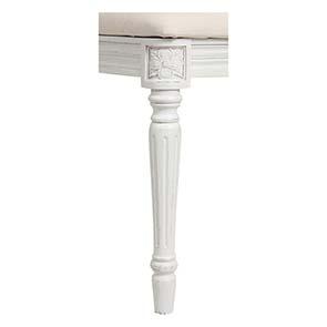 Chaise en tissu et pin massif blanc - Gustavien - Visuel n°7