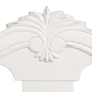Chaise en tissu et pin massif blanc - Gustavien - Visuel n°8