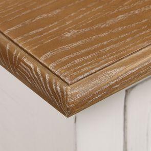 Console 1 tiroir en pin massif blanc vieilli - Esquisse - Visuel n°10
