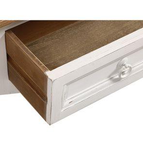 Console 1 tiroir en pin massif blanc vieilli - Esquisse - Visuel n°11
