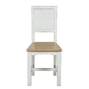 Chaise cannée en pin massif blanc - Esquisse