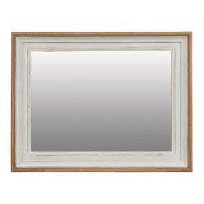 Miroir rectangulaire en pin massif blanc - Esquisse