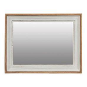 Miroir rectangulaire en pin massif blanc - Esquisse