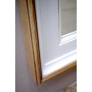 Grand miroir rectangulaire en pin blanc - Esquisse - Visuel n°5