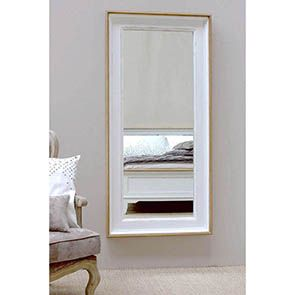 Grand miroir rectangulaire en pin blanc - Esquisse - Visuel n°3