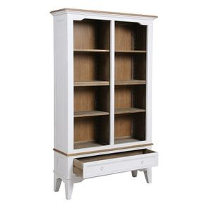 Bibliothèque blanc vieilli en pin massif - Esquisse - Visuel n°1