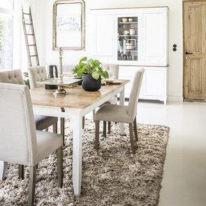 Table extensible blanche en pin 10 personnes - Esquisse