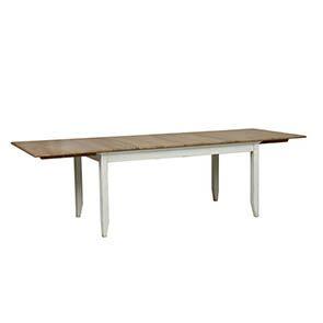 Table extensible blanche en pin 10 personnes - Esquisse - Visuel n°2