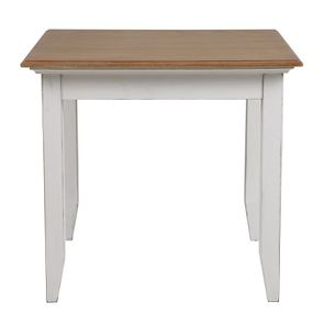Table carrée en pin blanc vieilli 4 personnes - Esquisse