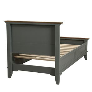 Lit enfant 90x190 en pin gris clair vieilli - Esquisse - Visuel n°4