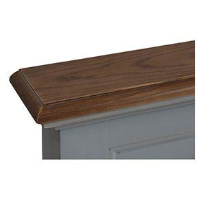 Tête de lit 180 en pin gris clair vieilli - Esquisse - Visuel n°4