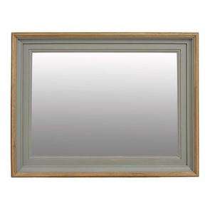 Miroir rectangulaire en pin massif gris - Esquisse