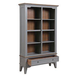Bibliothèque gris clair en pin massif - Esquisse - Visuel n°3