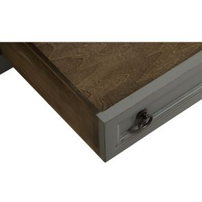 Table basse rectangulaire grise en pin - Esquisse - Visuel n°12