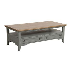 Table basse rectangulaire grise en pin - Esquisse - Visuel n°6