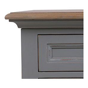 Bureau gris clair 1 tiroir en pin massif - Esquisse - Visuel n°4