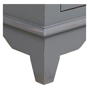 Bureau gris clair 1 tiroir en pin massif - Esquisse - Visuel n°5