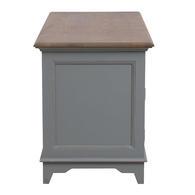 Bureau gris clair 1 tiroir en pin massif - Esquisse - Visuel n°14