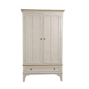 Armoire penderie 2 portes en pin gris plume vieilli - Esquisse