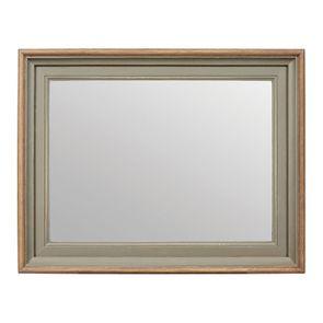 Miroir rectangulaire en pin gris plume - Esquisse
