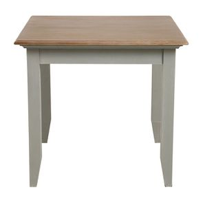 Table carrée en pin gris plume 4 personnes - Esquisse