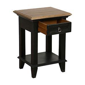Table de chevet en pin noir vieilli - Esquisse - Visuel n°5