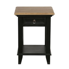 Table de chevet en pin noir vieilli - Esquisse