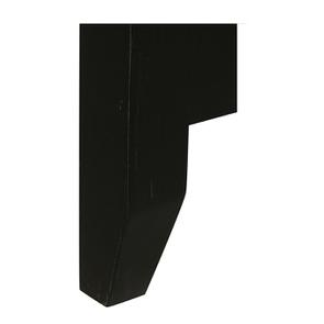 Tête de lit 90 noire en pin massif - Esquisse