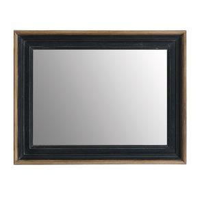 Miroir rectangulaire en pin massif noir - Esquisse