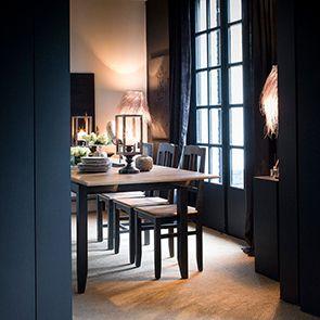Table extensible noire en pin 10 personnes - Esquisse - Visuel n°4