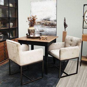 Table carrée en pin noire 4 personnes - Esquisse