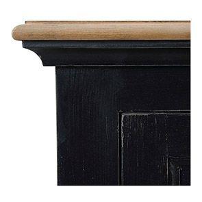 Armoire bonnetière noire en pin massif - Esquisse - Visuel n°2