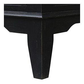 Armoire bonnetière noire en pin massif - Esquisse - Visuel n°3