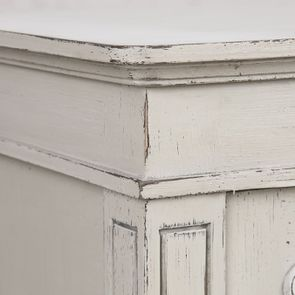 Vitrine 2 portes vitrées en pin blanc craie - Montaigne - Visuel n°13