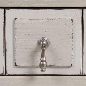 Vitrine 2 portes vitrées en pin blanc craie - Montaigne - Visuel n°15