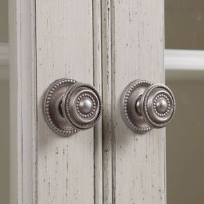 Vitrine 2 portes vitrées en pin blanc craie - Montaigne - Visuel n°16