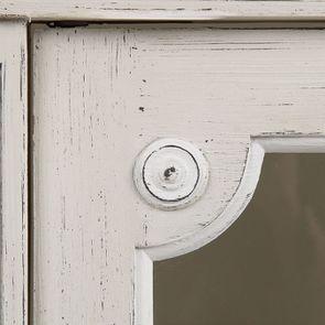 Vitrine 2 portes vitrées en pin blanc craie - Montaigne - Visuel n°17