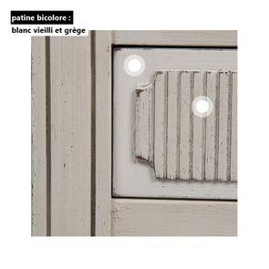 Vitrine 2 portes vitrées en pin blanc craie - Montaigne - Visuel n°18