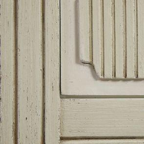 Vitrine 2 portes vitrées en pin blanc craie - Montaigne - Visuel n°19